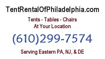 Tents, Tables, Chairs, at your location<br>TentRentalOfPhiladelphia.com